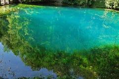 Spring of river Blau in Blaubeuren, Germany Royalty Free Stock Photo