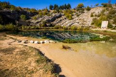 Spring of river Cetina, Croatia royalty free stock photo