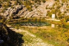 Spring of river Cetina. Croatia royalty free stock photography