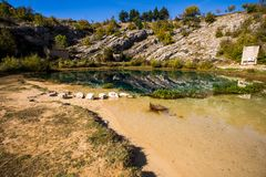Spring of river Cetina royalty free stock photo