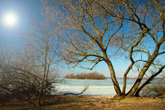 Spring rivers lakes in Europe Royalty Free Stock Photography