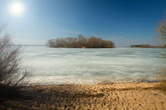 Spring rivers lakes in Europe Royalty Free Stock Images