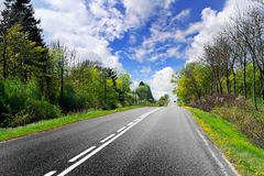 Spring road Royalty Free Stock Photos