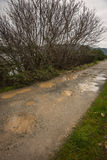Spring roads after heavy rain at Evbia, Greece Royalty Free Stock Photos