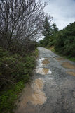 Spring roads after heavy rain at Evbia, Greece Stock Image