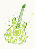 Spring Rock Guitar Poster Stock Photography