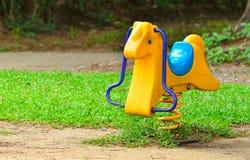 Spring Rocking Horse Stock Photo