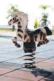 Spring rocking horse Stock Photos