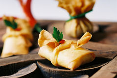 Spring Roll. Mince pork and vegetable wrapped with spring roll sheet then deep fried Stock Image