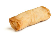 Spring Roll. Also known as  Egg Roll isolated on white Royalty Free Stock Photos