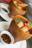 Spring roll. S are fried pastries asia food Stock Photography