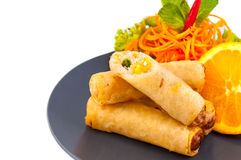Spring Roll also known as Egg Roll on white background Stock Images