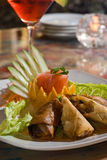 Spring roll appetizer Stock Photo