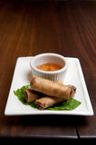 Spring roll appetizer Stock Image