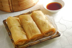 Spring roll dim sum Royalty Free Stock Photo