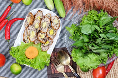 Spring Roll with pork and egg Royalty Free Stock Photography