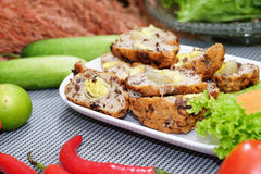 Spring Roll with pork and egg Royalty Free Stock Photo