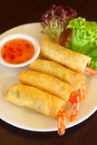 Spring roll prawn Stock Image