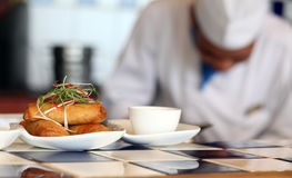 Spring roll at restaurant Royalty Free Stock Photo