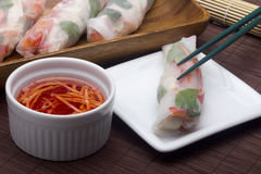 Spring Roll Sauce Royalty Free Stock Images