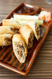 Spring roll. Thai spring roll with vegetables Stock Photos