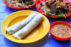 Spring roll wrapper made of rice paper, traditional cuisine in Vietnam Royalty Free Stock Images