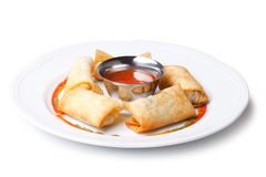 Spring Rolls. Close up Spring Rolls, chinese cuisine royalty free stock photography