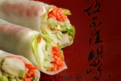 Spring Rolls Royalty Free Stock Photography