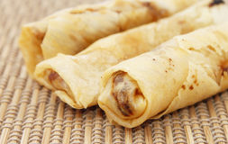 Spring rolls also known as popiah Stock Images