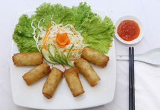 Spring rolls (Cha gio), Vietnamese cuisine Stock Photo