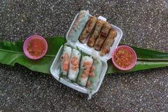 Spring rolls (Cha gio), Vietnamese cuisine. Stock Photo