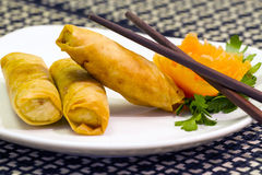 Spring rolls chinese appetizer Royalty Free Stock Photos
