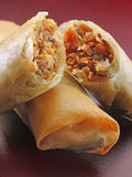 SPRING ROLLS. A close up of spring rolls Royalty Free Stock Images