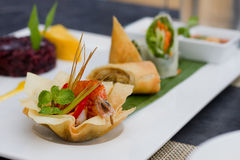 Spring rolls food Royalty Free Stock Photo