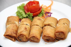 Spring rolls. Food Spring rolls , crispy , fresh spring rolls, Paulo , fried . clay pot rice , Chinese food , tasty , eat it , bake it in a pot , mushrooms Stock Photo