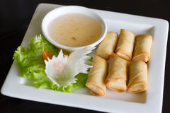 Spring rolls food Royalty Free Stock Images
