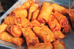 Spring Rolls fried Stock Image