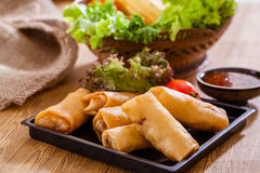 Spring rolls. Fried Chinese  Spring rolls,asian food Royalty Free Stock Photo