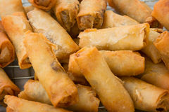 Spring rolls on the market close up Royalty Free Stock Photos