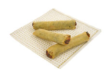 Spring rolls on napkin Stock Photos
