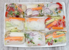 Spring rolls on a plate Royalty Free Stock Image