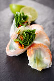 Spring rolls with shrimps Royalty Free Stock Images