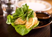 Spring rolls traditional. Fried appetizer chinese cuisine Royalty Free Stock Image