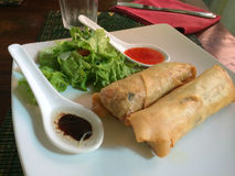 Spring rolls in Ubud, Bali, Indonesia Royalty Free Stock Photos
