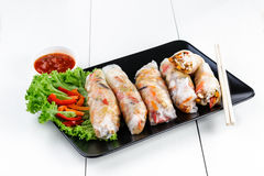 spring rolls with vegetables Royalty Free Stock Photography