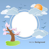 Spring round background Stock Photos