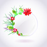 Spring round frame. Vector Stock Photo