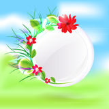 Spring round glass. Vector Royalty Free Stock Images