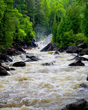 Grassy River High Falls Spring Runoff Royalty Free Stock Photos