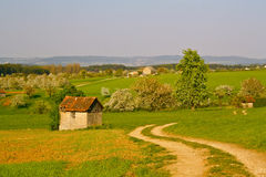 Spring in rural Germany. Spring landscape near Kalchreuth,, Germany Royalty Free Stock Photos